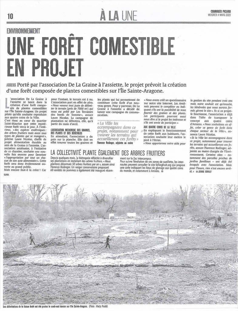Article Courrier Picard foret comestible