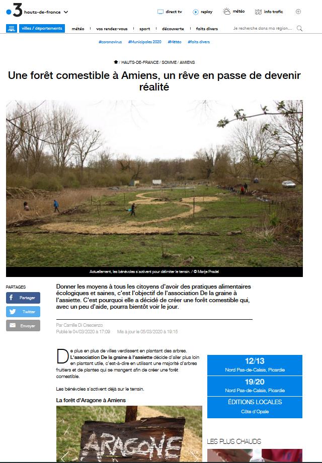Article France 3 - Foret Aragone